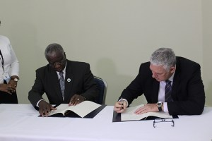 Signing of Maritime Boundary-Barbados & St Lucia