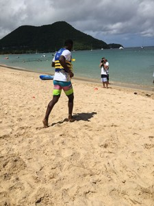 St. Lucia Stars Captain, Daren Sammy, heading to join his team in the water