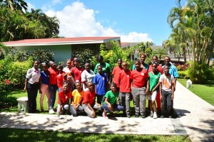 Sir Ira Simmons Secondary School Students at Sandals Halcyon Beach Resort - part of ICC 2017 activities