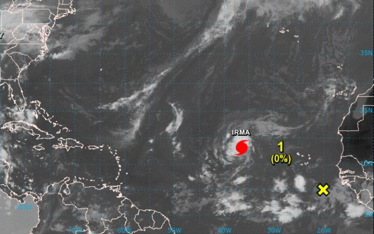hurricane irma atlantic 2017 satellite image (noaa)