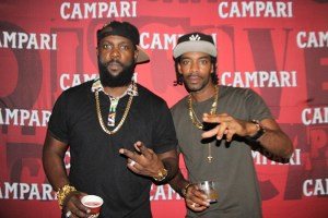 Bunji Garlin and Ricky T at Campari Road To Trini Carnival Cocktail Launch Party