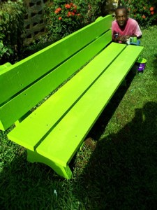 Laborie Village Square - Bench (After)