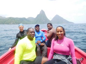 Members of the Coral Restoration Project
