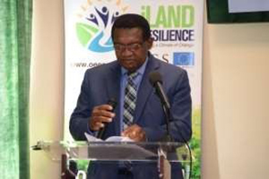 The Honourable Minister of Agriculture, Marine Resources, Cooperatives, Environment and Human Settlements, Mr. Eugene Hamilton