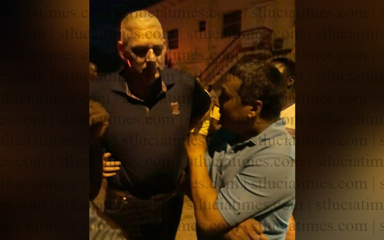 PM Allen Chastanet at scene of Soufriere Hospital fire - stluciatimes