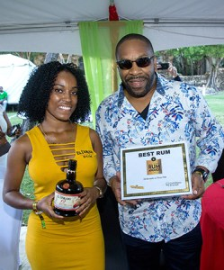 Beaming with pride; One of the El Dorado Brand Ambassadors with Brand manager Germaine Serieux