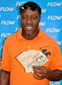 Vieux Fort electrician Dudley Etienne was a $2000 cash winner!