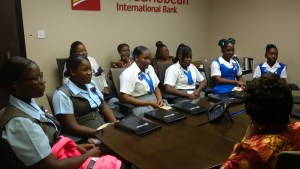 Female Secondary School Students being mentored