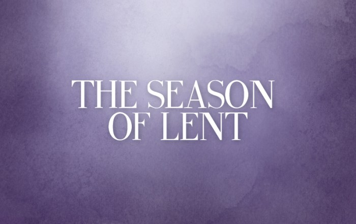 Lent 2018 – An Ancient Approach