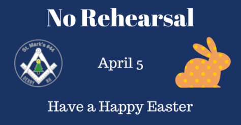 No Rehearsal - Easter