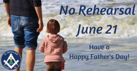 No Rehearsal - Father's day