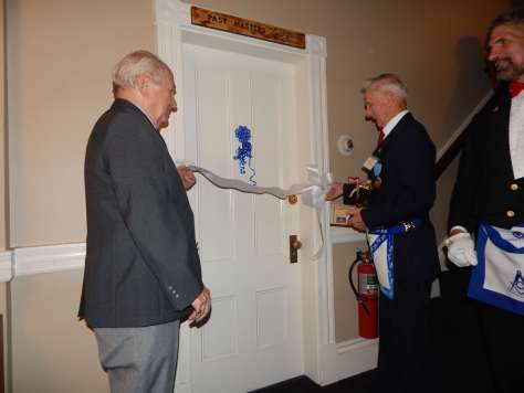 Opening the Past Masters' Lounge