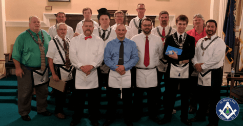 Master Mason Degree on Sept 25, 2017