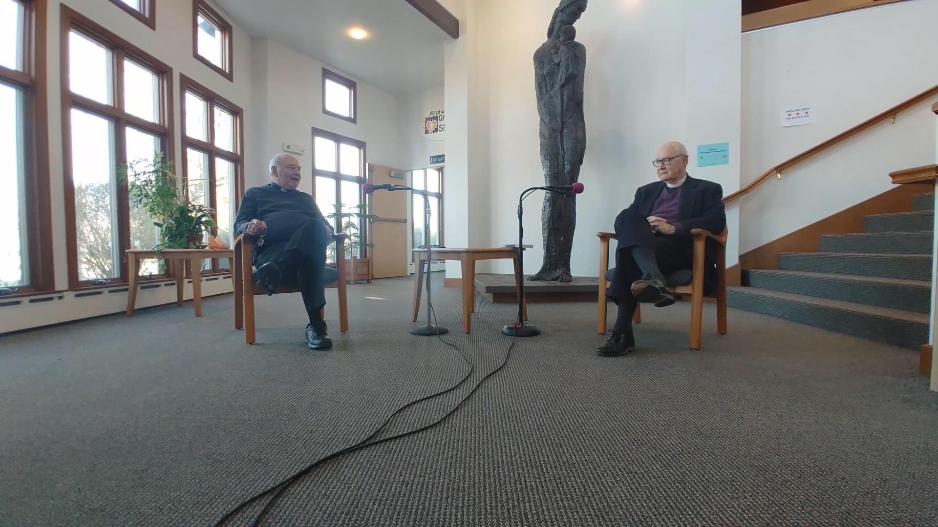 Interim Pastor David Mueller and the Very Rev. Bill Lane