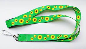 Neck lanyard with sunflower pictures