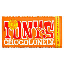 Image of a block of Tony's Chocolonely brand chocolate