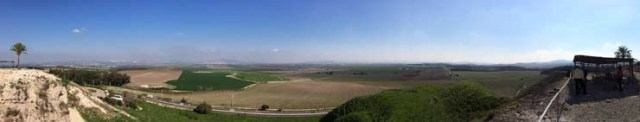 View from the top of Mount Tabor.