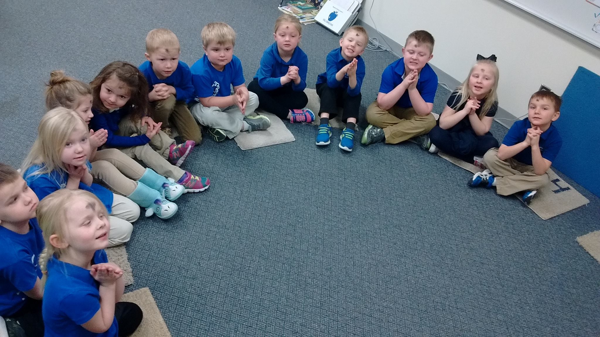 Ash Wednesday Pre K St Mary Of The Seven Dolors