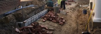 The bricks are being laid!