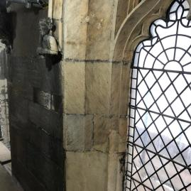 An example of the stone cleaning in progress