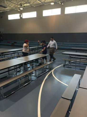 Special thanks to our parent volunteers in the cafeteria.