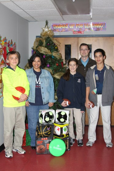 HASA's Donation to the Middle School Students