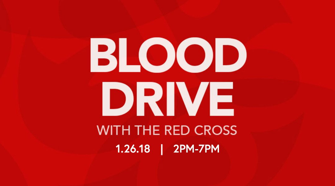 Red Cross Blood Drive 1/26 2-7pm