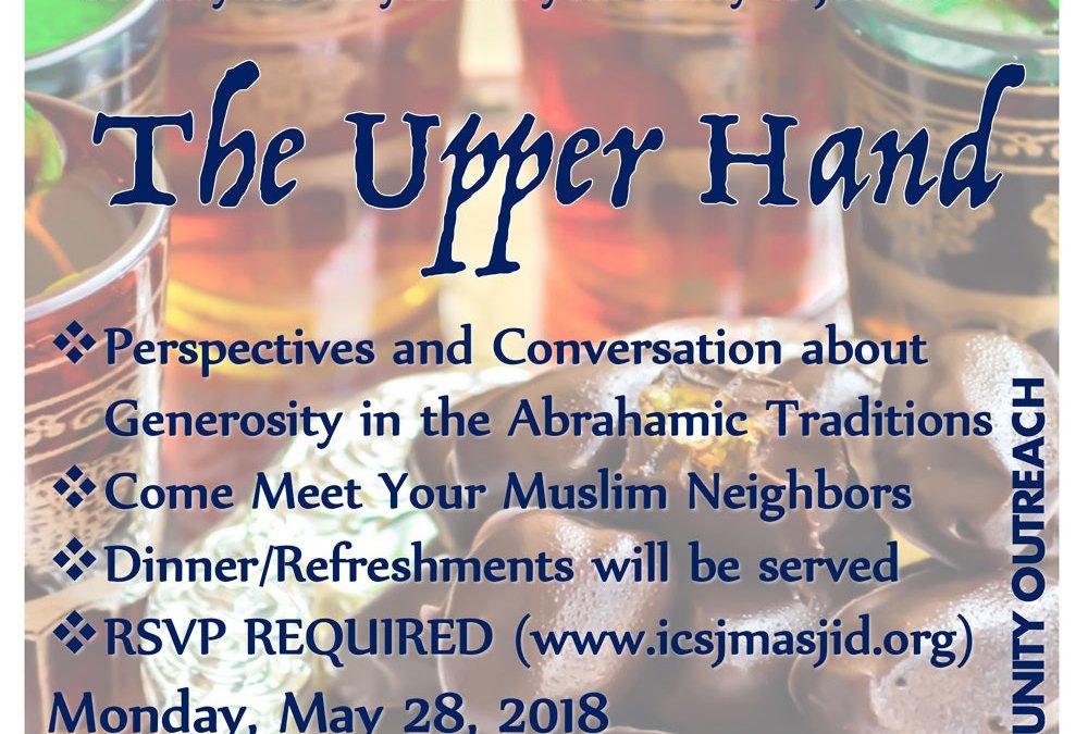 ICSJ Interfaith Event (Generosity)