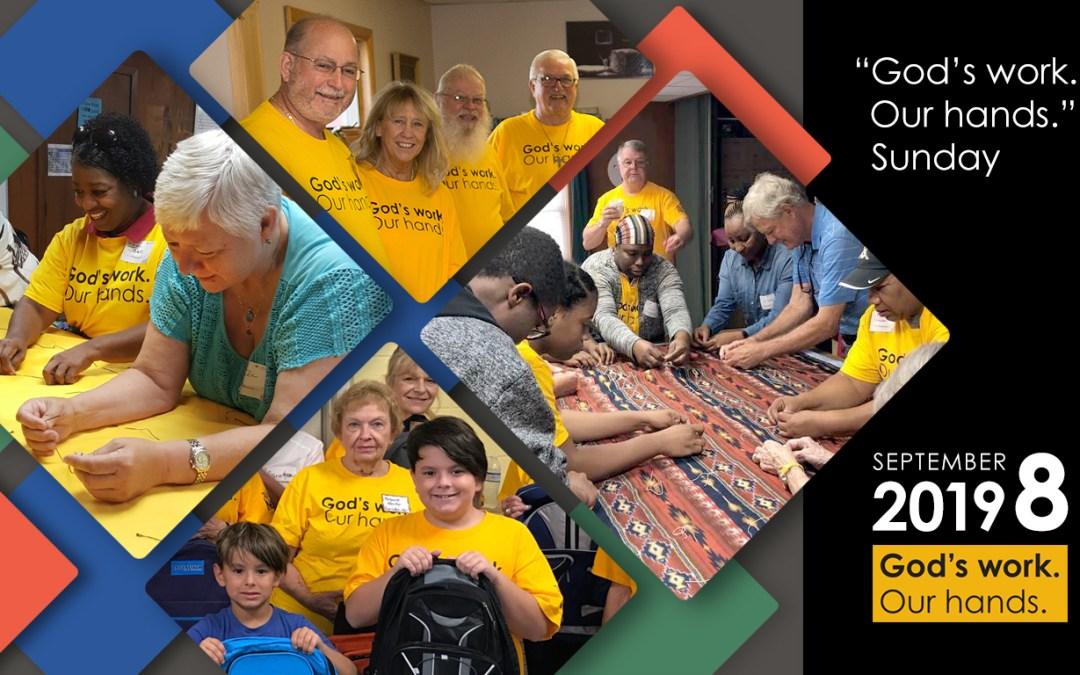 ELCA Day of Service Sunday, September 8