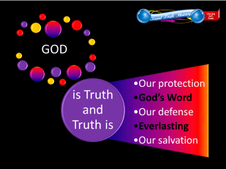 image of god is truth graphic word