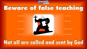 graphic for false teaching; devil steal