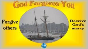 Picture of clipper ship on an overcast day for the god forgives you bible study