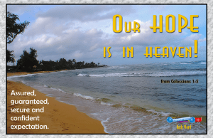 picture for spiritual appetizers - what we hope for