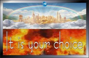 Picture of heaven and the lake of fire for the spiritual nutrition page