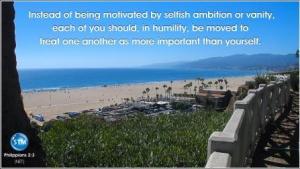 Picture for prosperity god's way – Santa Monica Beach Philippians 2:3