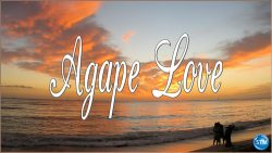 Picture of a romantic tropical sunset for the agape love bible study
