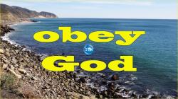 Picture of pacific coast beach for the obey God bible lesson