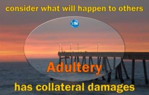Picture of sunset at Pacifica pier for the adultery bible study