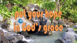 "Picture of waterfall at the beach for the ""your hope"" bible lesson"