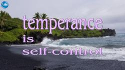 Picture of black sand beach for the temperance bible lesson