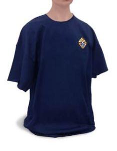 Blue Tee shirt with emblem