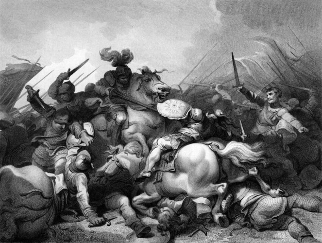 The Battle of Bosworth (1804) by Philip James de Loutherbourg | Courtesy of the Wikimedia Commons