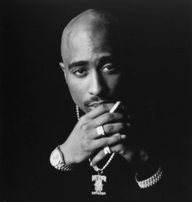 Tupac Shakur's photo in the Rock &Roll Hall of Fame   Courtesy of Rock & Roll Hall of Fame