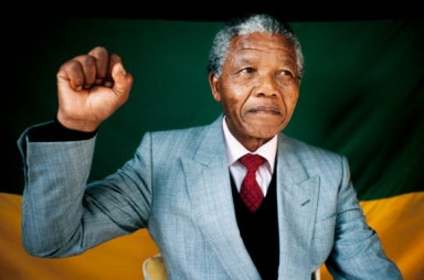 Nelson Mandela in South Africa in 1990 | Courtesy of G Advantures