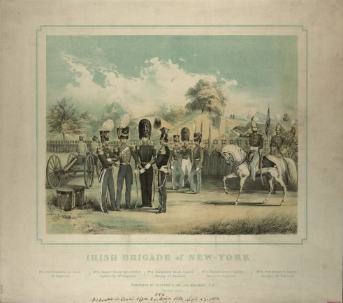 Print of the Irish Brigade of New York (September 27, 1852) | Courtesy of Library of Congress