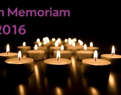 In Memoriam 2016.