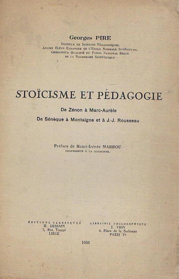 Stoïcisme et pédagogie