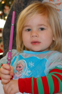 Queen Elsa with her wand