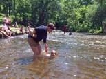 Maggie enjoying the creek