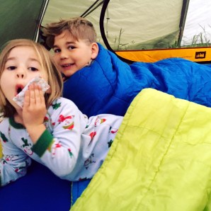 Maggie and Griffin slept in their own tent for the first time ever.